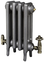 Eastgate Victoriana 3 Column 4 Section Cast Iron Radiator 645mm High x 276mm Wide - Metallic Finish